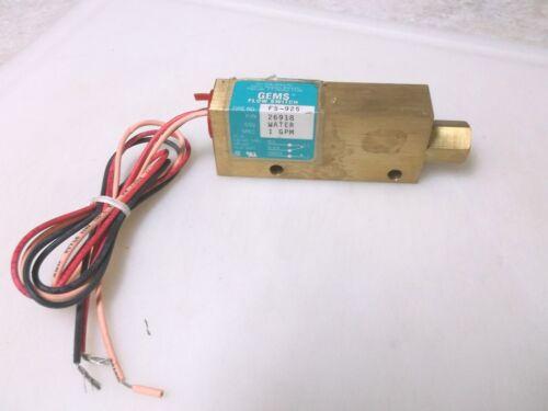 GEMS FS-925 Flow Switch 26918 1 GPM New