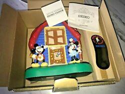 Vintage Seiko Walt Disney Mickey Mouse & Co Talking Animated Alarm Clock IN BOX