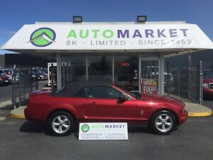 2008 Ford Mustang V6 PREMIUM CONVERT. LEATHER! AUTO!