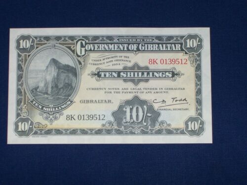 10 Shillings Bank Note from Gibraltar Uncirculated