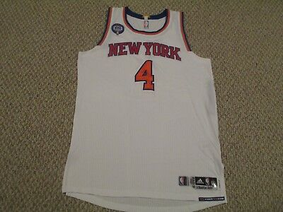 Quincy Acy  4 2014 15 New York Knicks GAME USED JERSEY white STEINER LOA  HOLO 04e7df378