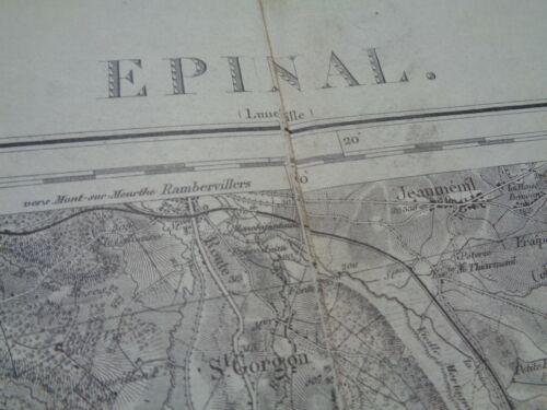 """WW1 (1917) French Map """"EPINAL"""" (VOSGES) Part of the """"Séré de Rivières"""" System"""