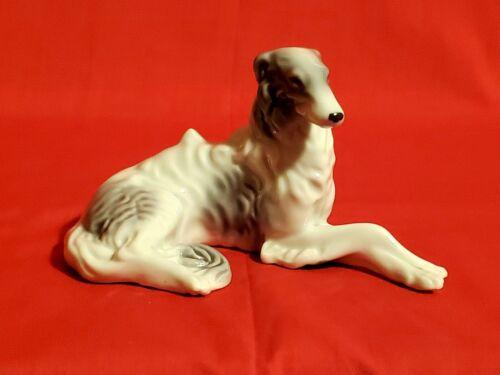 Vintage KYOTO Russian Borzoi WOLFHOUND Porcelain Dog Figurine – Japan - EXC
