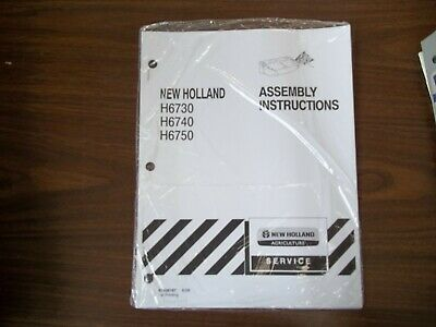 New Holland H6730 6740 6750 Assembly Instructions