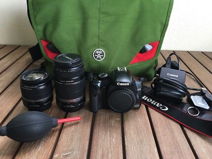 Canon 450d package | incl kit lenses, carry bag, charger etc