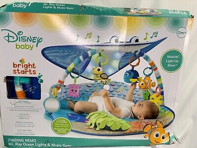 Bright Starts Disney Baby Finding Nemo Mr. Ray Ocean Lights & Music Activity Gym