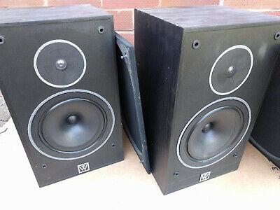 Wharfedale 505-2 Speakers pair vintage bookshelf loudspeakers black 100W hi-fi
