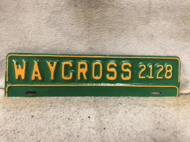 Vintage Waycross, Georgia License Plate (Repaint)