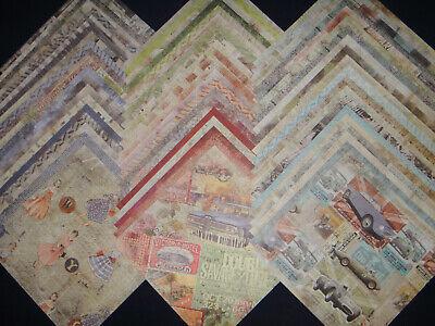 12x12 Scrapbook Paper Studio Newsworthy Vintage Prints Ads Ephemera News 60 Lot
