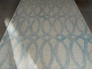 Pale Blue Shaded Cross Rug. Robina Gold Coast South Preview