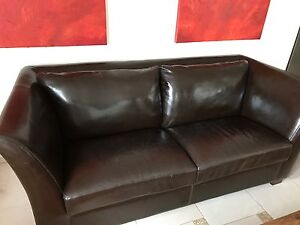 2.5 Seater Leather  Lounge Chatswood West Willoughby Area Preview