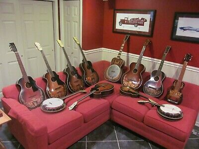 Collection of pre-war Kay kraft, Oahu, Del Oro and Recording King instruments