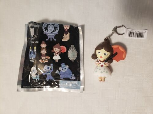 Disney Haunted Mansion Figural Bag Clip Keychain Stretch Portrait Tightrope New