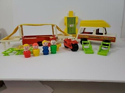 Vintage Fisher Price Little People #992 Pop-Up Camper Complete, #3
