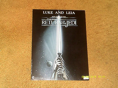 John Williams sheet music Luke and Leia from STAR WARS: RETURN OF THE JEDI 1983