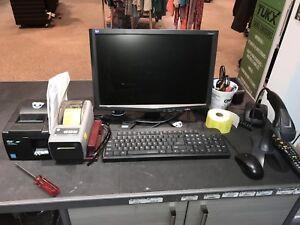 Computer tower with screen keypad and mouse