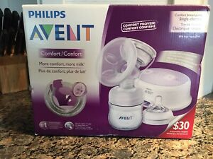 Single electric breast pump and accessories