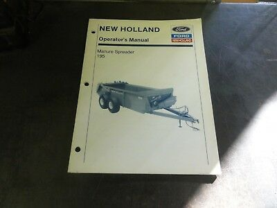 New Holland 195 Manure Spreader Operators Manual