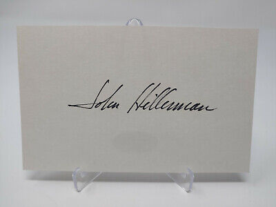 John Hillerman Autographed 3x5 Index Card JSA COA
