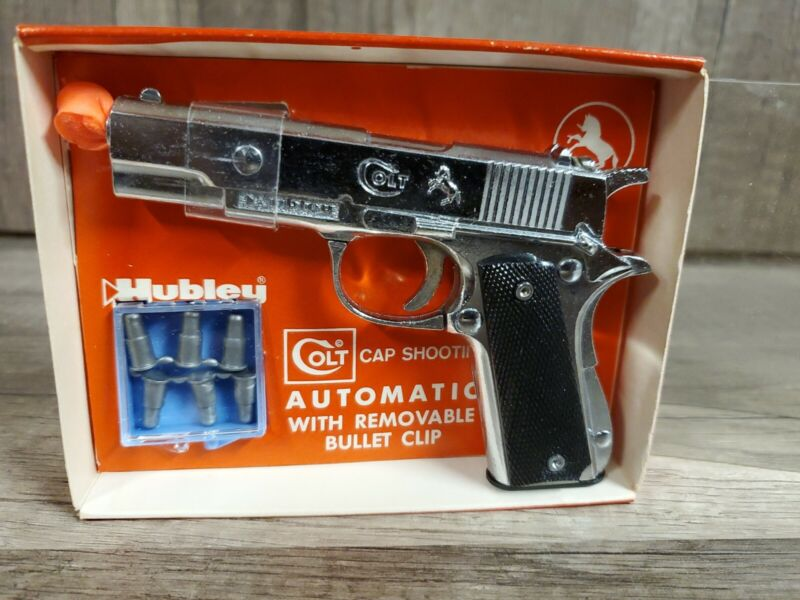 Vintage RARE - 1958 Hubley Colt Automatic with Removable Clip Toy Cap Gun NEW