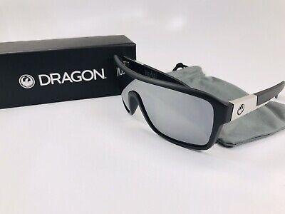 NEW DRAGON Sunglasses DR JAM REMIX2 Matte Black with Silver Ion (Dragon Remix)