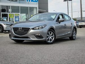 LOW KM 2015 MAZDA3 GX SEDAN AUTOMATIC ALUMINUM METALLIC MICA