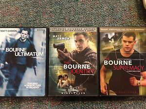 Bourne movies (upgraded to blue ray)