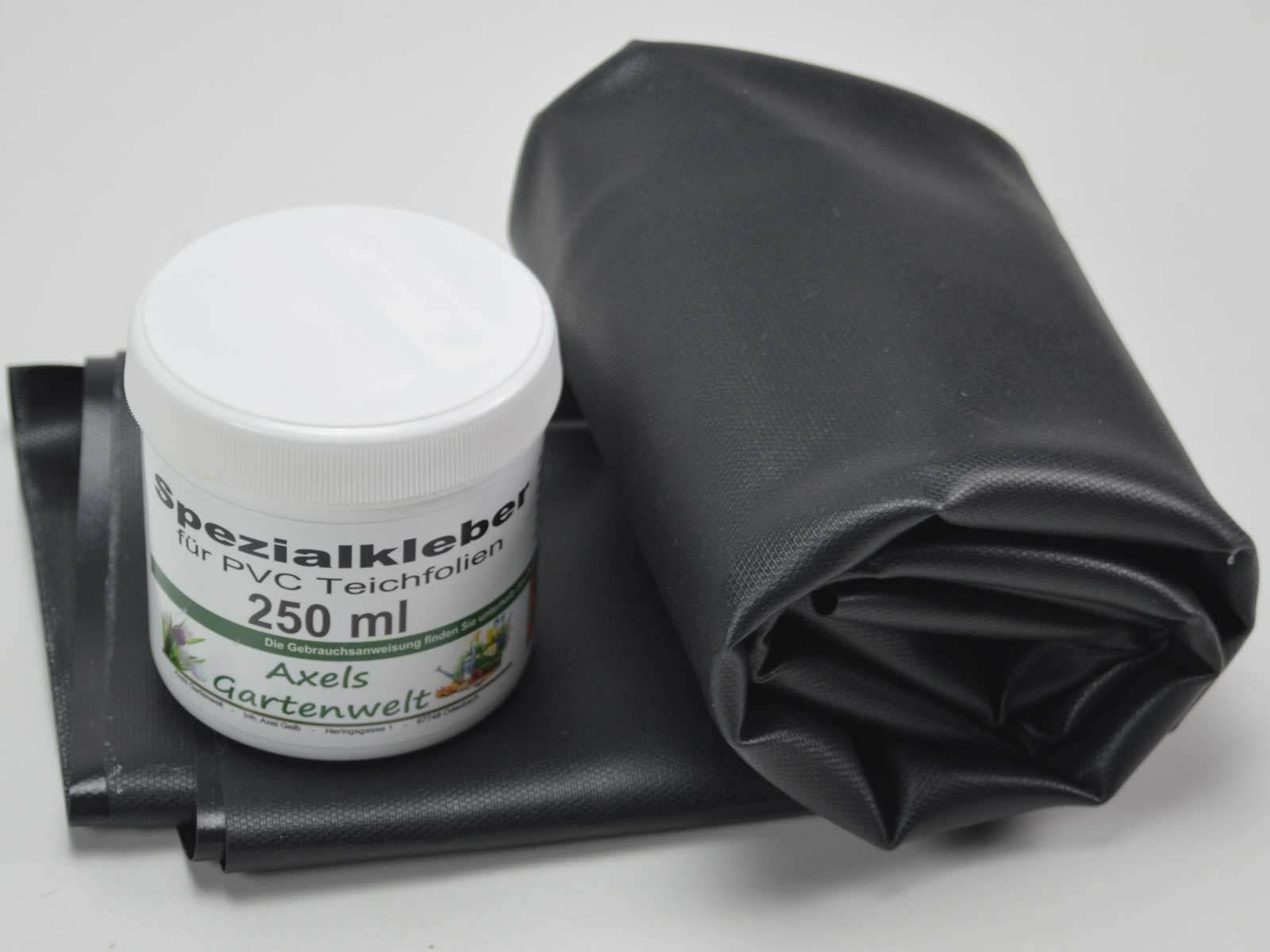Reparaturset für Teichfolie 1,0 mm / Teichfolienkleber + PVC Folie Teich Kleber