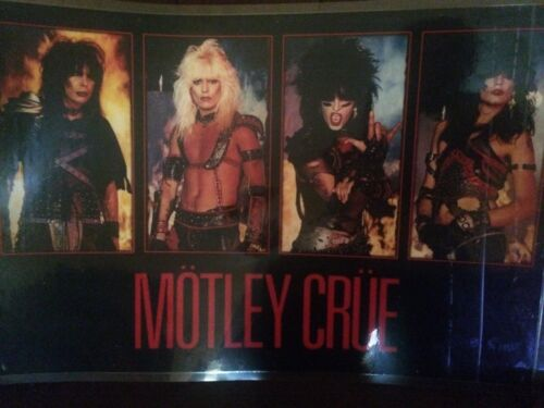 MOTLEY CRUE POSTER-21 by 31inches-laminated