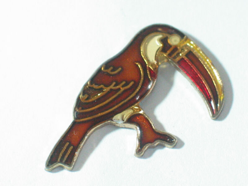 Vintage Toucan Bird Pin Lapel Pin Tie Tack