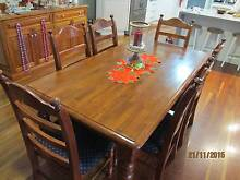 Timber Dining Setting with 6 chairs Valley Heights Blue Mountains Preview
