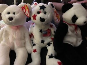 Three Collector Beanie Babies all with rare tags