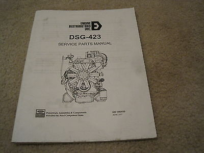 Ford Dsg-423 Industrial Engine Parts Manual Nice Engine Distributors Inc 2.3l