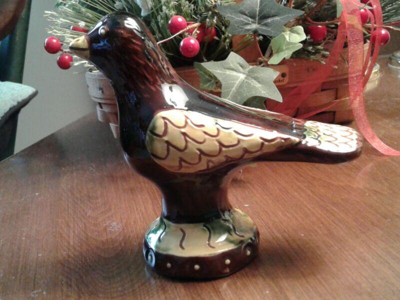 Breininger Vintage Redware Pottery, BIRD