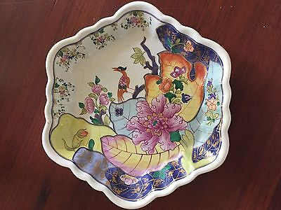MOTTAHEDEH TOBACCO LEAF HEXAGONAL TRAY 7 3/4""