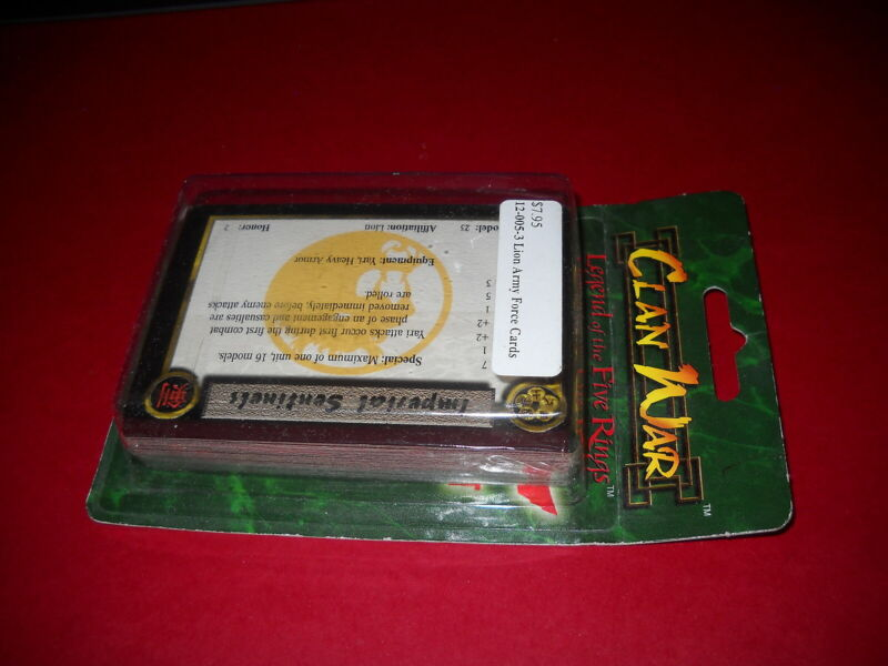 Clan War: Lion Army Force Cards blister: NIB