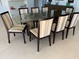 Quality upholstered high back dining chairs