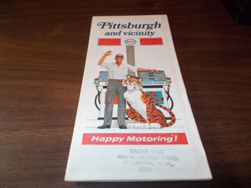 1971 Esso Pittsburgh and Vicinity Vintage Road Map
