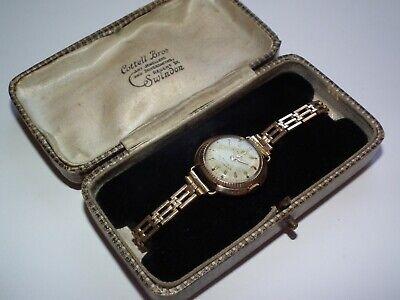 Scarce 1960 Rolex Tudor Royal Automatic Princess Solid 9ct Gold Case Wristwatch
