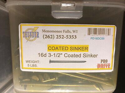 Grip-riteprodrive Pd16dcs5 16d 3-12 Coated Sinker Nails 5lbs