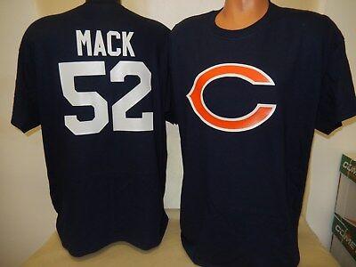 8911 MENS Apparel CHICAGO BEARS KHALIL MACK Football Jersey Shirt New BLUE