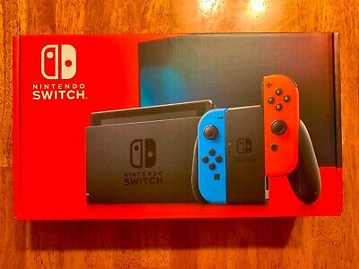 Nintendo Switch 32GB Console with Neon Red and Neon Blue Joy-Con HAC-001(01) NEW