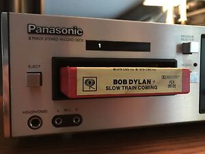 Functioning PANASONIC RS-805US 8 Track Player/recorder Near Mint
