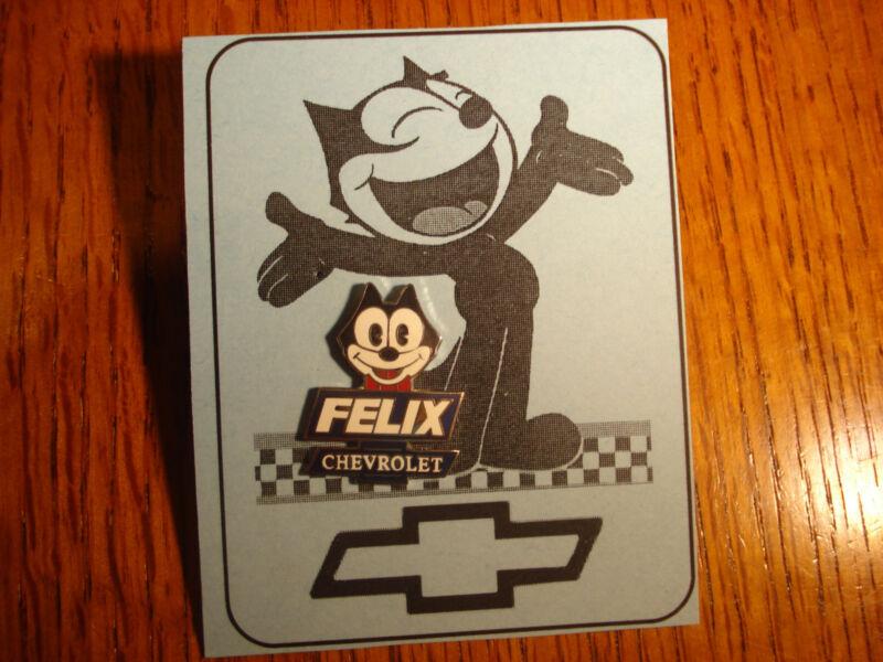 Vintage Felix The Cat Chevrolet Cartoon Button Pin Rare