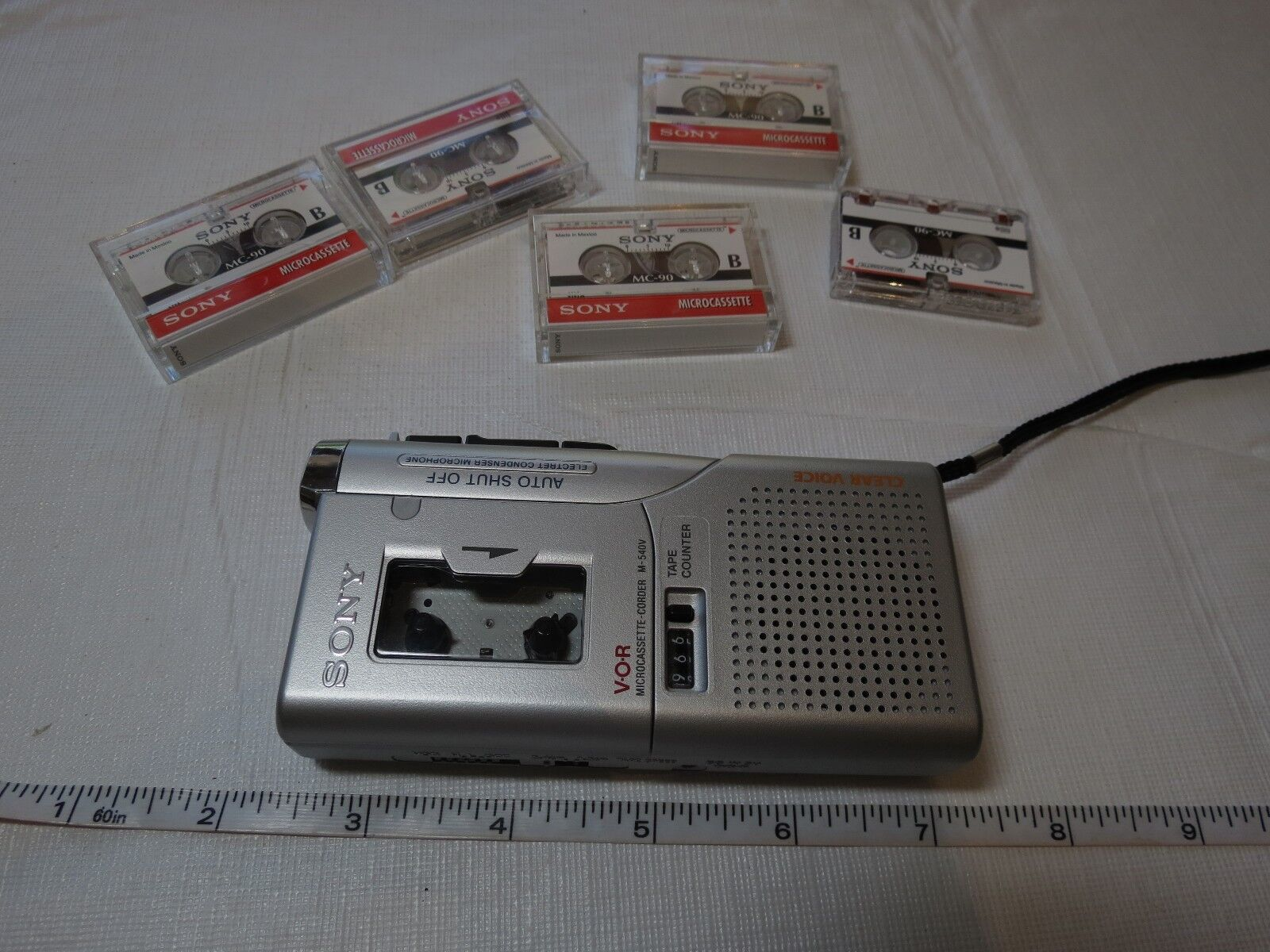 Sony V-O-R video voice recorder microcassette corder M-540V handheld tapes AS IS