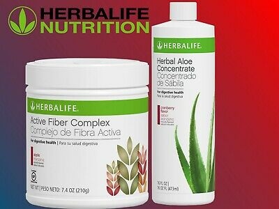 HERBALIFE ACTIVE FIBER COMPLEX APPLE  DIGESTIVE HEALTH TASTY HEALTHY & ALOE 16OZ