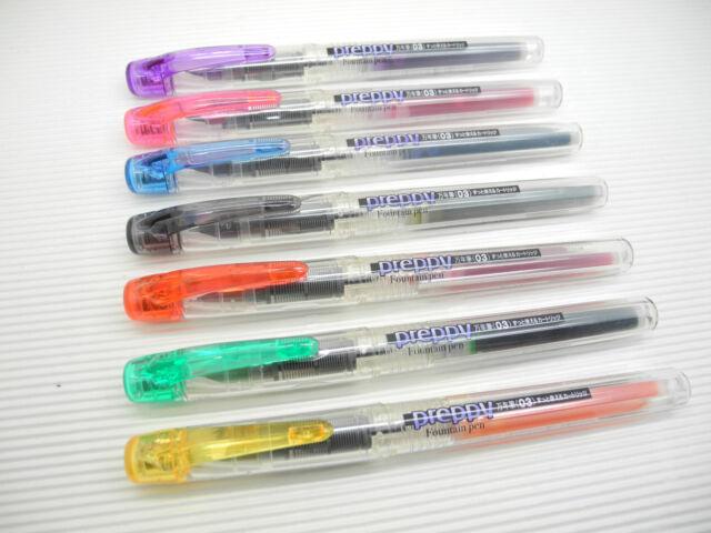 7 COLOURS Platinum Preppy F nib 0.3( Japan) fountain pen MIXED colour ink