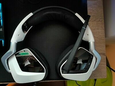 Corsair VOID PRO RGB Wireless Cuffie Gaming per PC, Dolby 7.1, Bianco