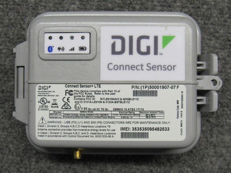 DIGI International Connect Sensor+ LTE 50001907-07 F IoT Connectivity Senser