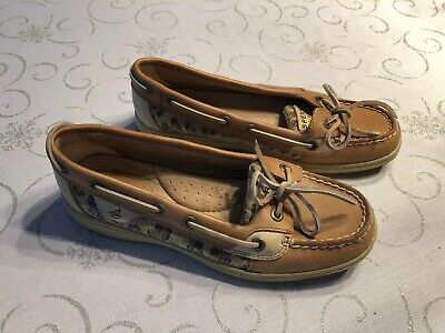 Women's Sperry Top-Sider Size 6M 9102341 Boat Shoes Beige Leather Loafers for sale  Shipping to South Africa
